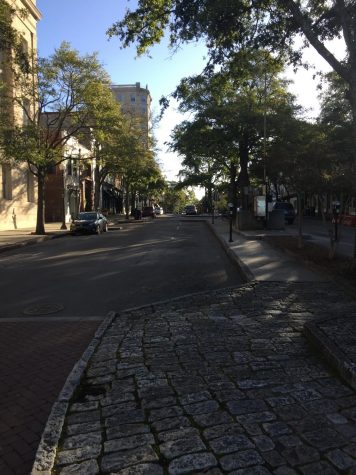 Market St. sidewalk, downtown Wilmington, NC