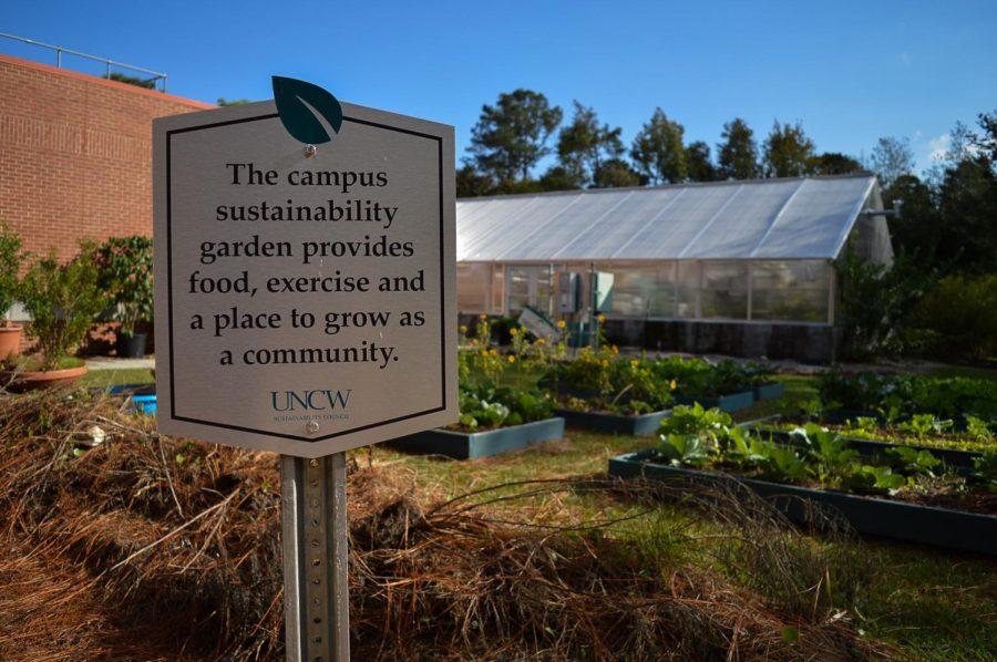 The Greenhouse and garden operated on UNCW