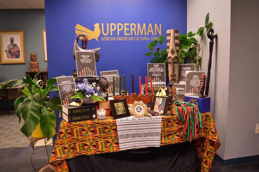 A display inside the Upperman African American Cultural Center in Fisher Student Union.
