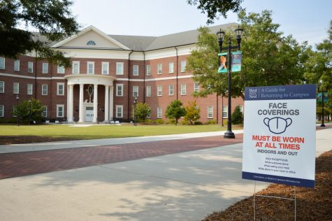 A sign on UNCW