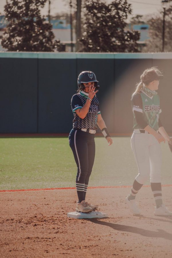 Gabriella Hessenthaler during UNCW's intrasquad scrimmage.