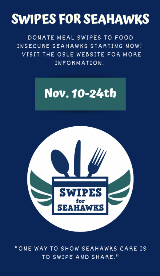 Swipes for Seahawks runs from Nov. 10-24 and meal swipes will be distributed in the spring.