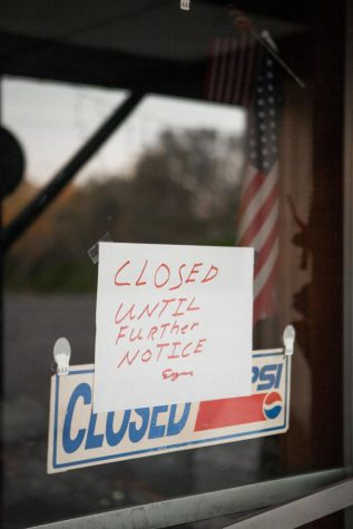 Business closed due to COVID-19 shutdown. Photo by Andrew Winkler
