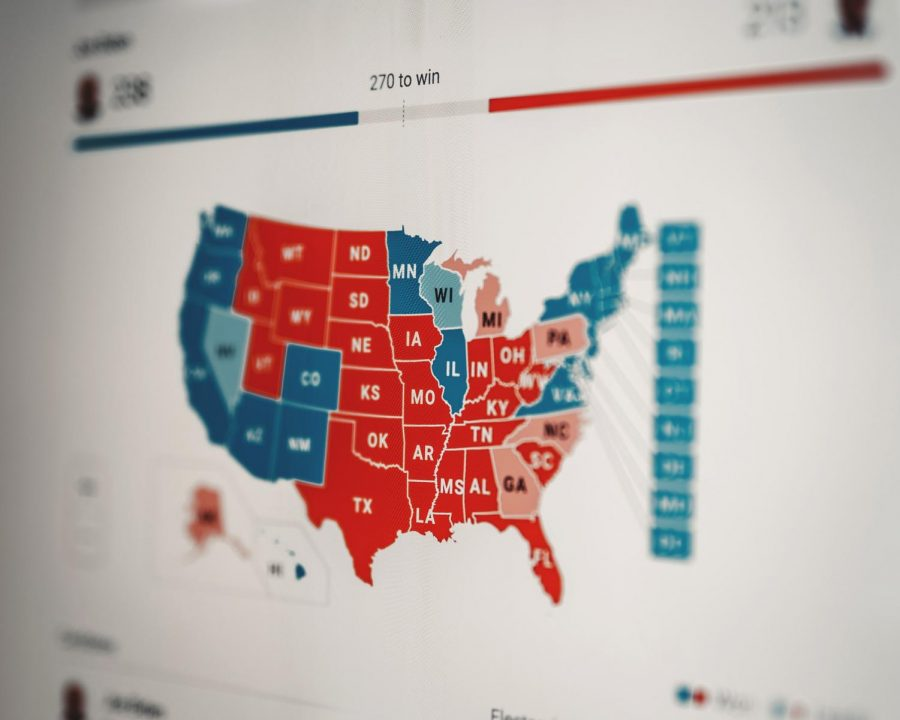 Coverage of the 2020 presidential election. Photo by Clay Banks