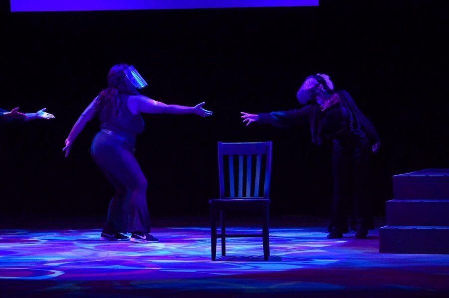 Dajah Glenn and Addison Hamlet onstage.