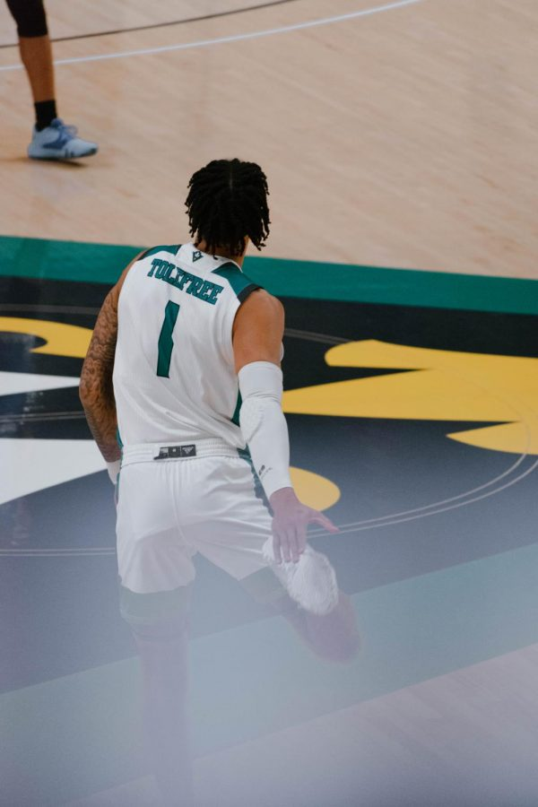 Brian Tolefree during UNCW's matchup vs St. Andrews on Dec. 9, 2020.
