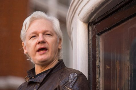 Julian Assange on May 19, 2017, in London.   Photo by Dominic Lipinski/PA Wire - TNS