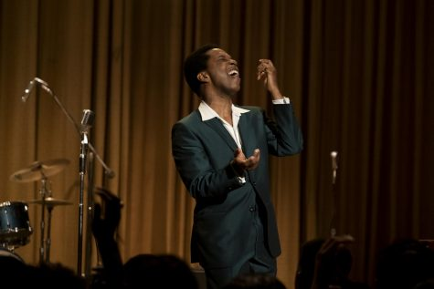 """One Night in Miami..."" thoughtfully ends with a performance by Sam Cooke, portrayed by Leslie Odom Jr.  Photo by Patti Perret - TNS"
