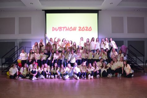 Members of Phi Mu and Pi Sigma Epsilon at a previous DubThon event.