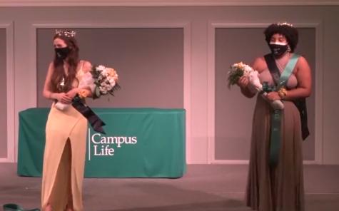 Sabrina Balent and Alexis Pean as Homecoming royalty.