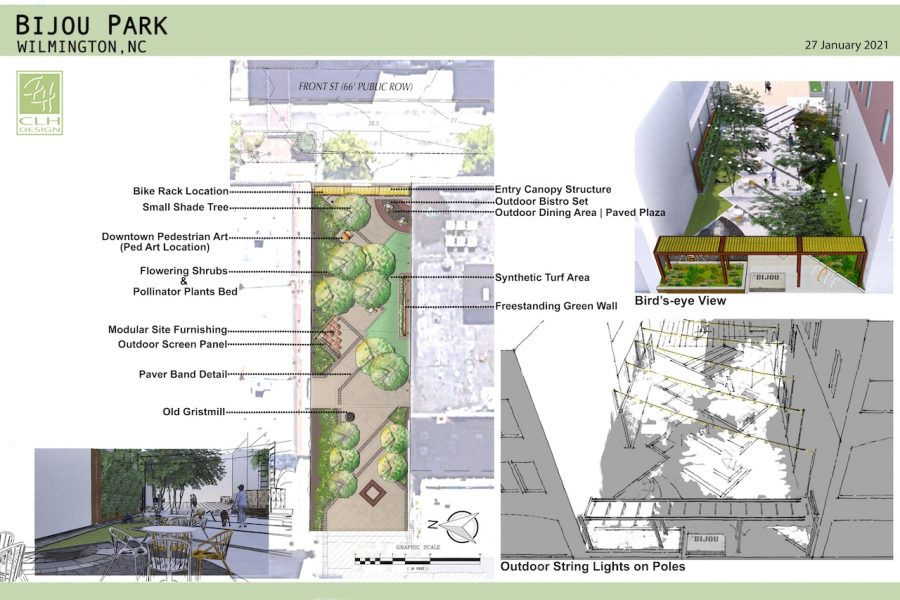 Current renovation plans for Bijou Park.
