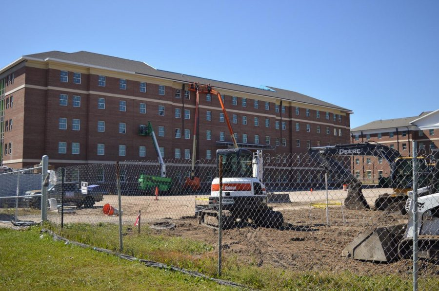 More campus housing is under construction.