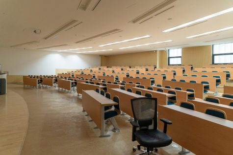 Empty classroom in University of Seoul.
