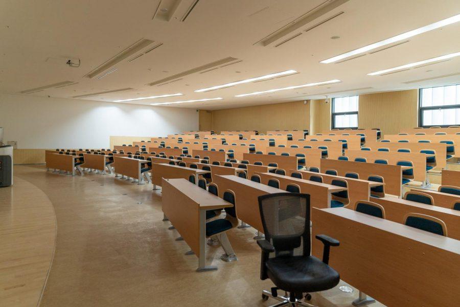 Empty classroom in University of Seoul.