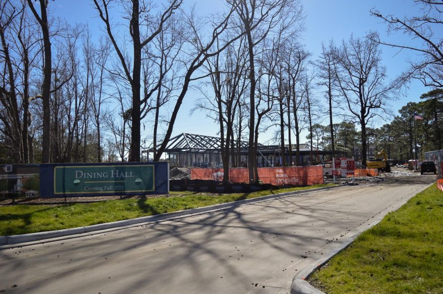New dining hall under construction.