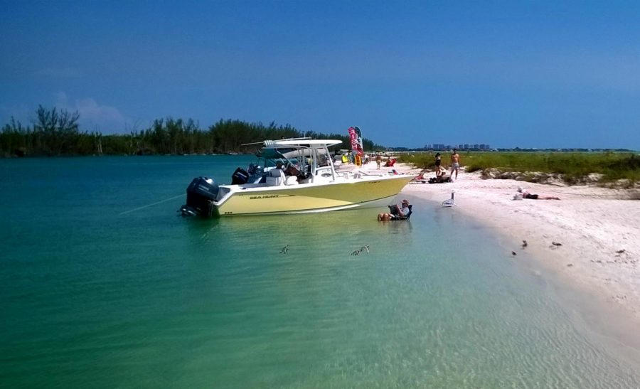 With nearly eight miles of beach, Keewaydin Island is a remote hideaway only accessible by boat. The barrier island lies between Marco Island and Naples Fla.