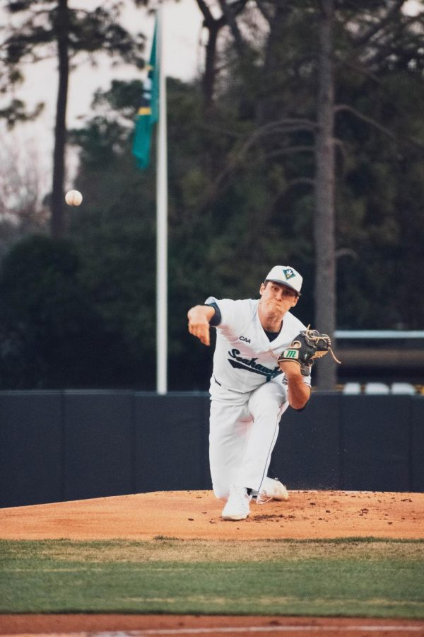 Landen Roupp during UNCW's matchup with Appalachian State on Mar. 12, 2021