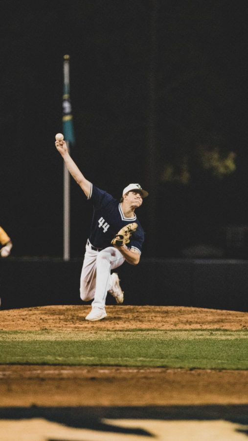 Hunter Hodges during UNCW's matchup with ECU on Mar. 17, 2021.