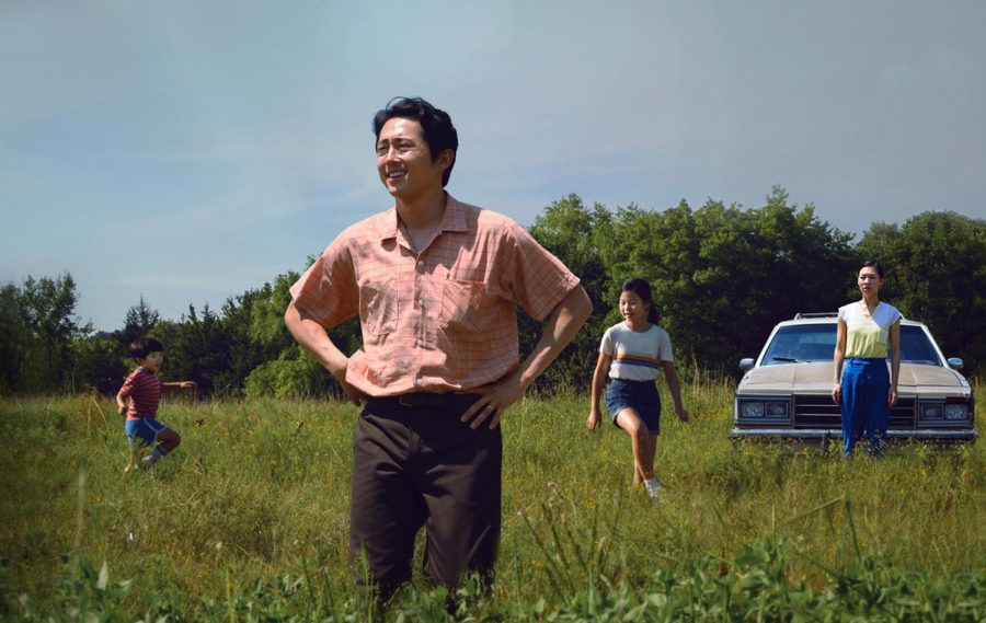 Alan S. Kim, left, Steven Yeun, Noel Cho and Yeri Han in A24's
