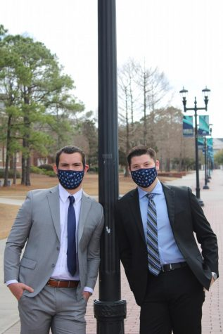 Robby Fensom (left) with running mate, Thomas Wilson (right) are running in the 2021-2022 SGA election.