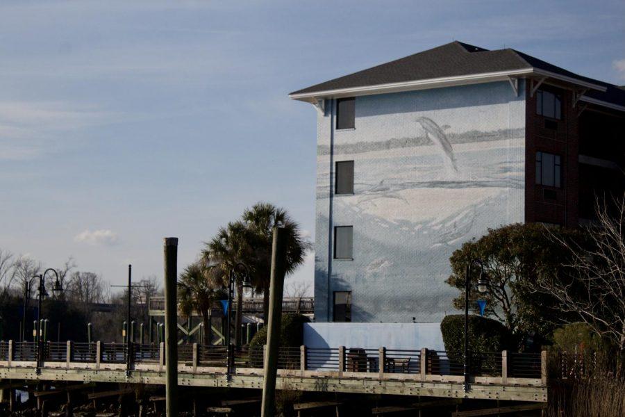 A mural at Best Western Plus Coastline Inn.