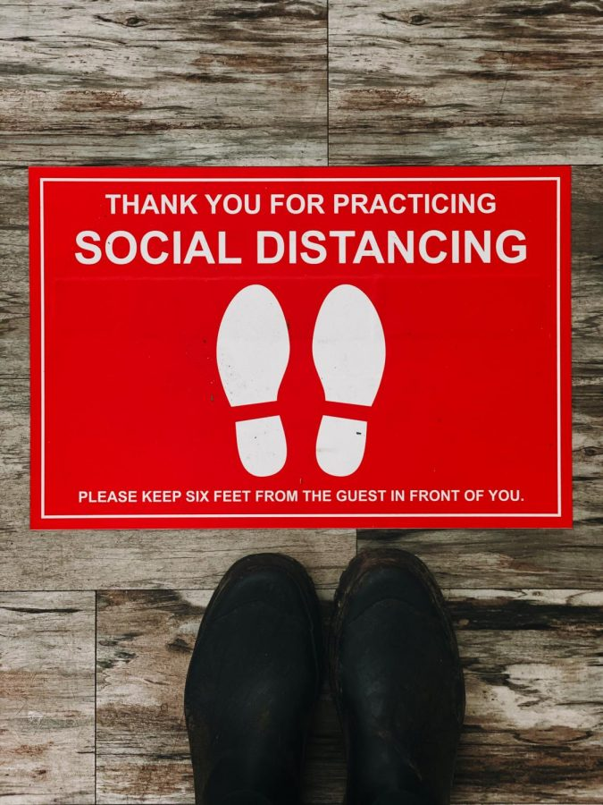 Social distancing.