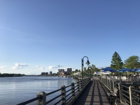 A view of the Wilmington riverwalk.