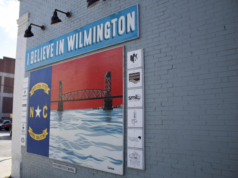 Artwork on Second Street in Wilmington.