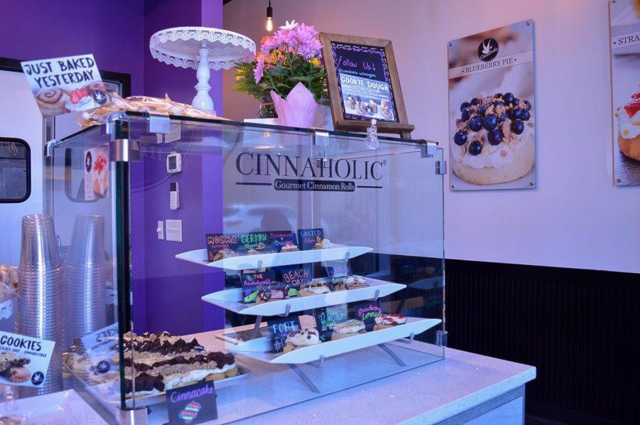 A display inside Cinnaholic.