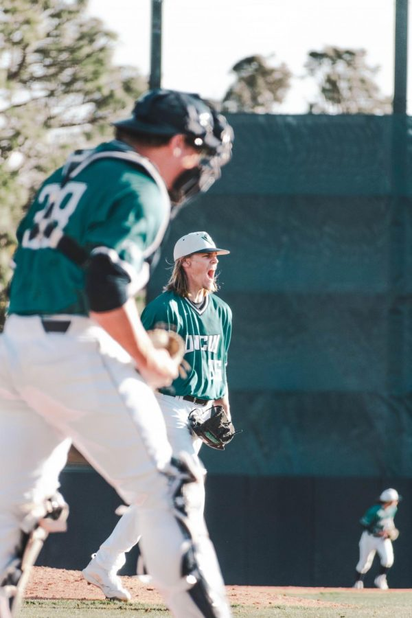 Adam Smith during UNCW's matchup with Cincinnati at Brooks Field.