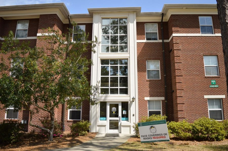 The Seahawk Landing apartments on campus.