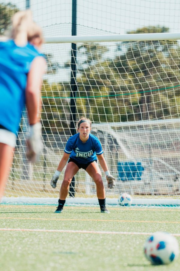 Blair Barefoot during UNCW's practice on Apr. 13, 2021.