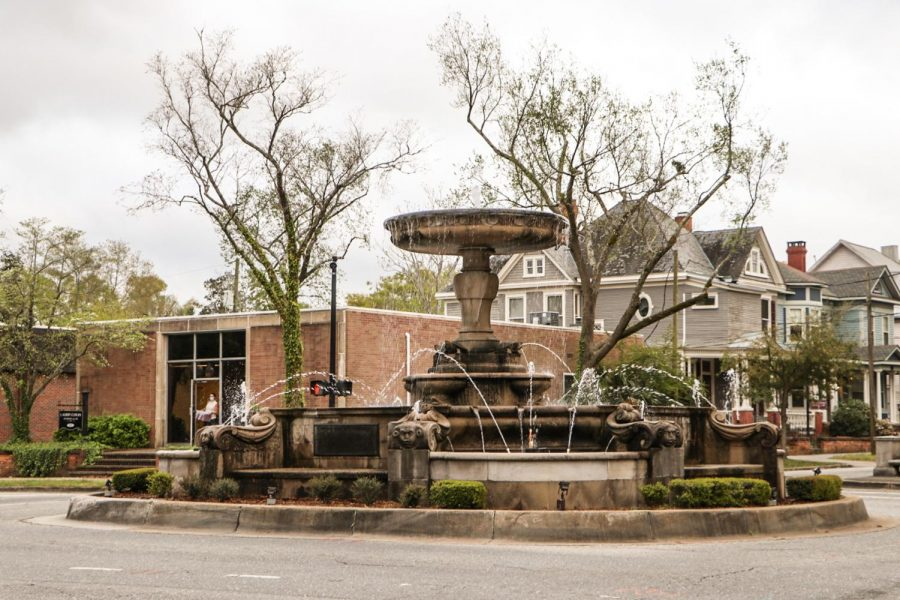 The fountain in downtown Wilmington.