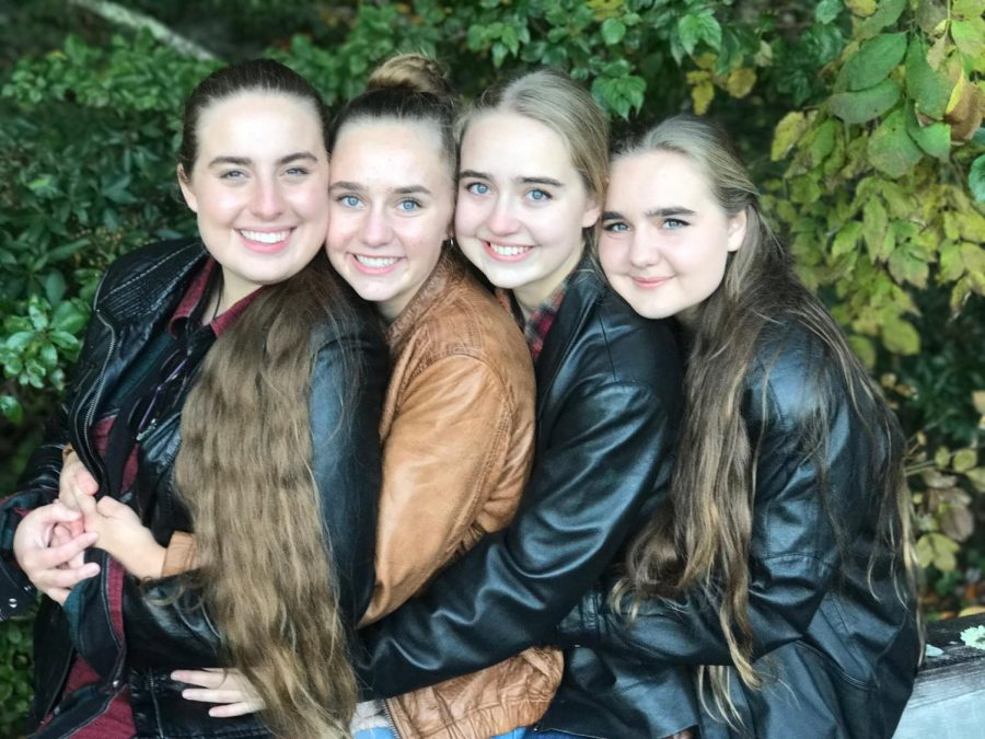 Pictured, from left, Serah Culler and her sisters Layla, Sophia, and Alexandra.