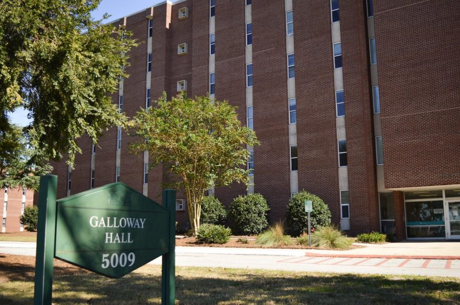 Galloway Hall houses traditional style dorms.