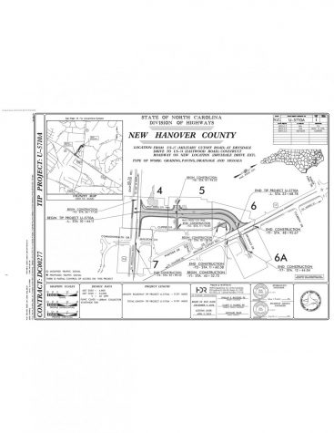 Plans for the construction on Military Cutoff Rd.