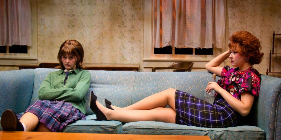 Nanouri Winchester (left) plays Jo and Meghan McDonald (right) plays Helen in UNCWs production of A Taste of Honey.
