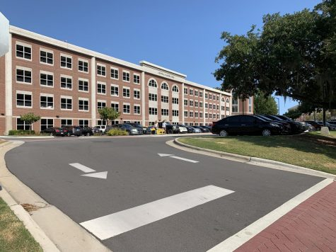 The Central Parking Deck on campus.