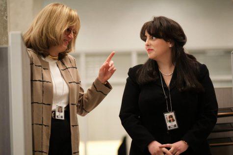 "Sarah Paulson as Linda Tripp and Beanie Feldstein as Monica Lewinsky in ""Impeachment: American Crime Story."""