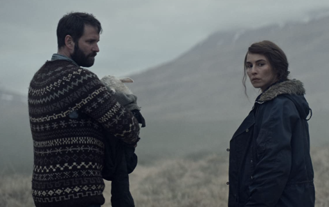 """Hilmir Snær Guðnason and Noomi Rapace in """"Lamb"""" (2021)."""