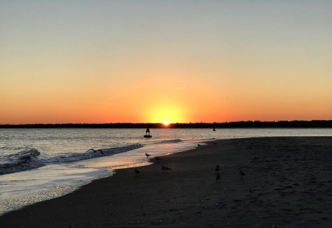 Wrightsville beach at sunset.