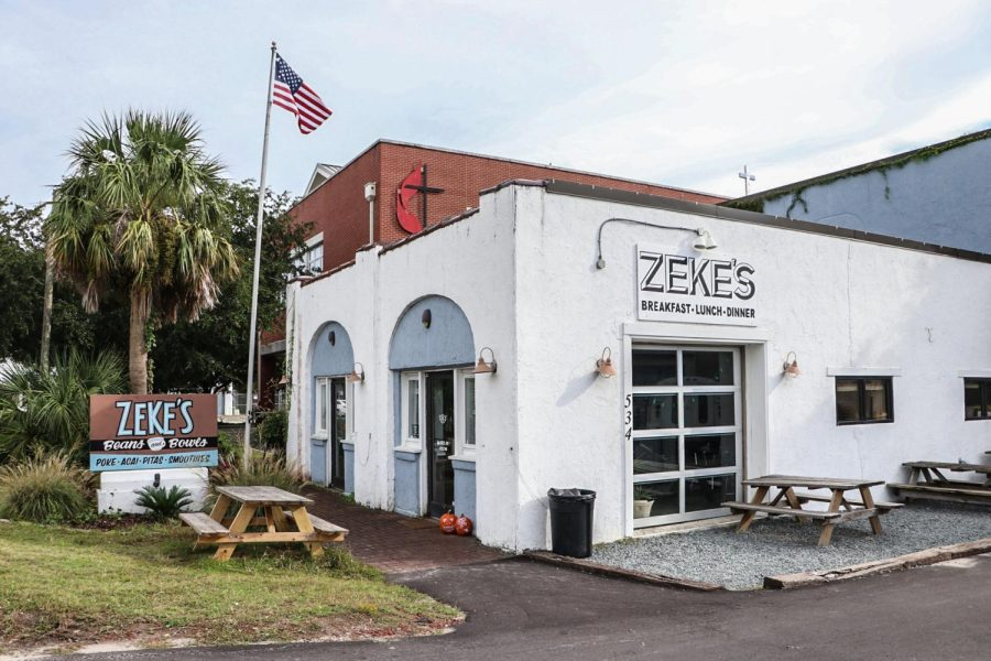 Zekes Beans and Bowls at Wrightsville Beach.